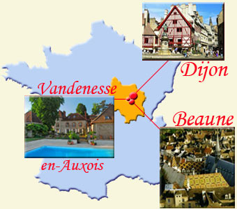 rent a room near Dijon and Beaune in Burgundy